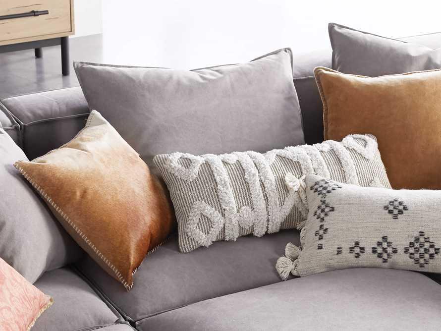 Boho Ivory Fringe Oversized Lumbar Pillow, slide 4 of 7
