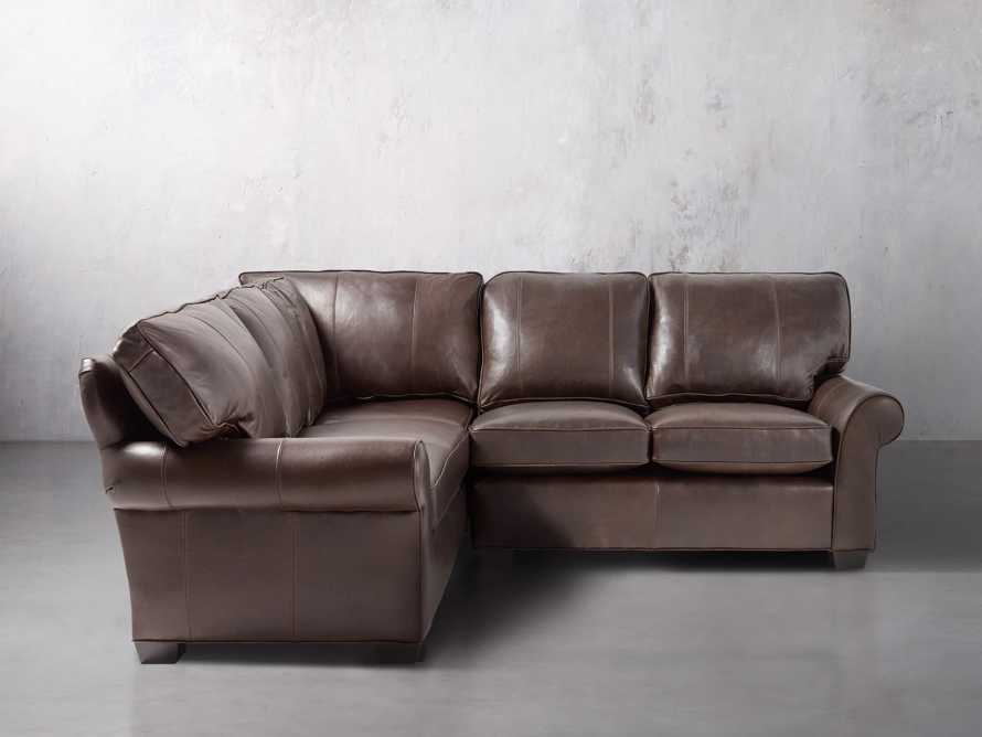 "Brentwood 97"" Leather Two Piece Sectional, slide 1 of 7"