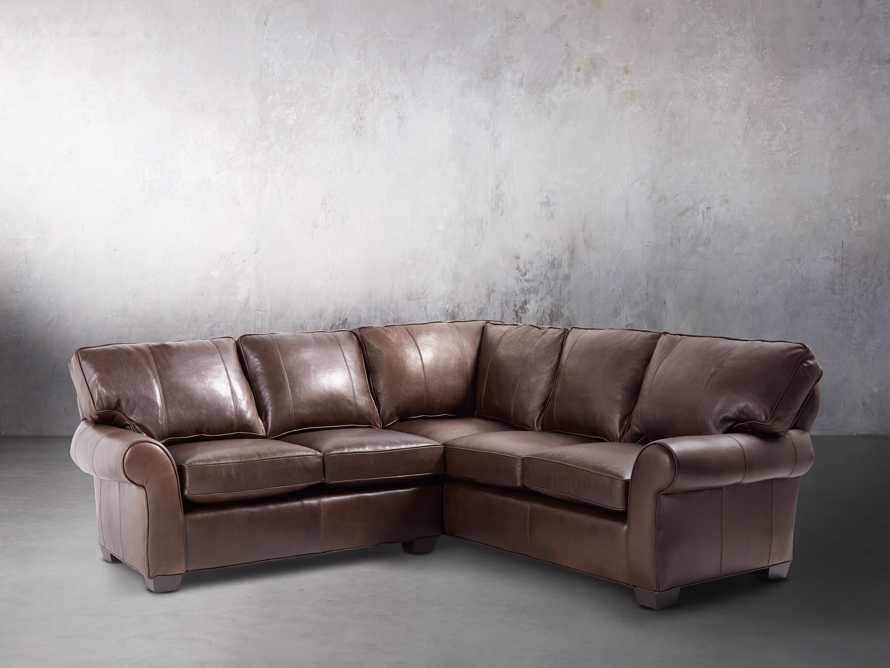 "Brentwood 97"" Leather Two Piece Sectional, slide 2 of 7"