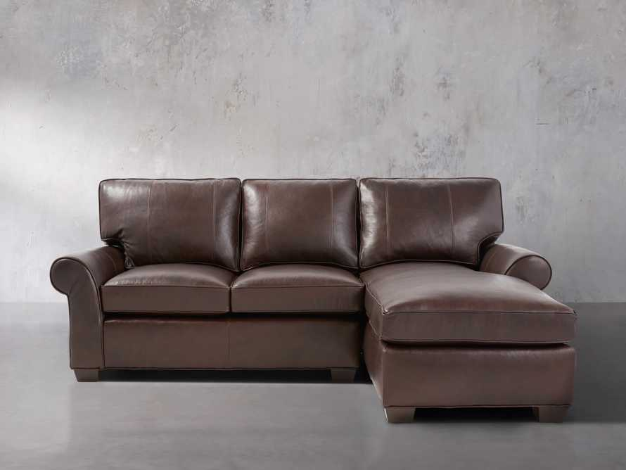 """Brentwood 94"""" Leather Right Arm Two Piece Sectional"""