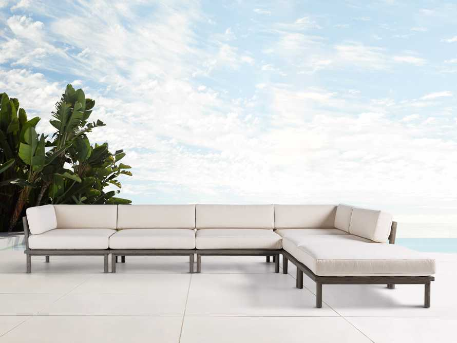 Costa Outdoor Six Piece L Sectional, slide 1 of 5