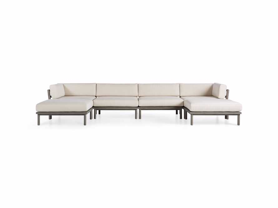 Costa Outdoor Six Piece U Sectional, slide 3 of 4