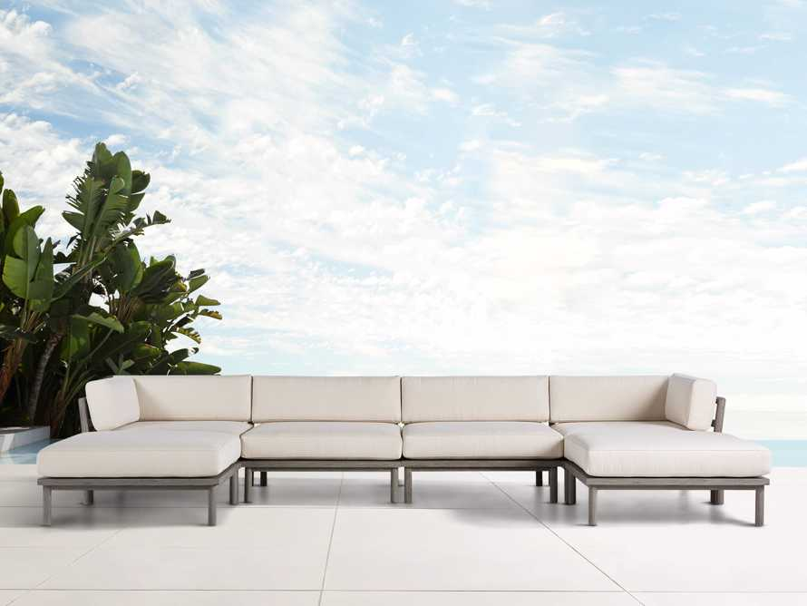 Costa Outdoor Six Piece U Sectional, slide 2 of 4