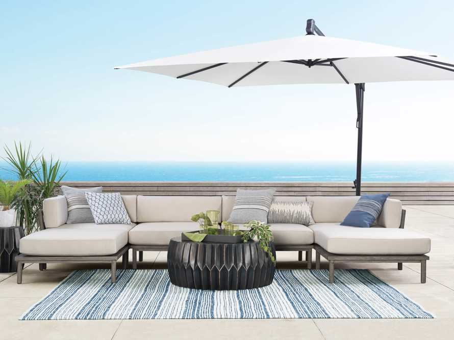 Costa Outdoor Six Piece U Sectional, slide 1 of 4