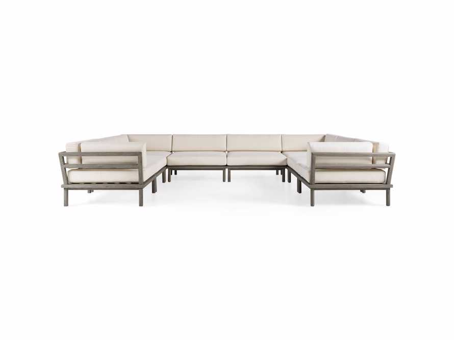 Costa Outdoor Eight Piece U Sectional
