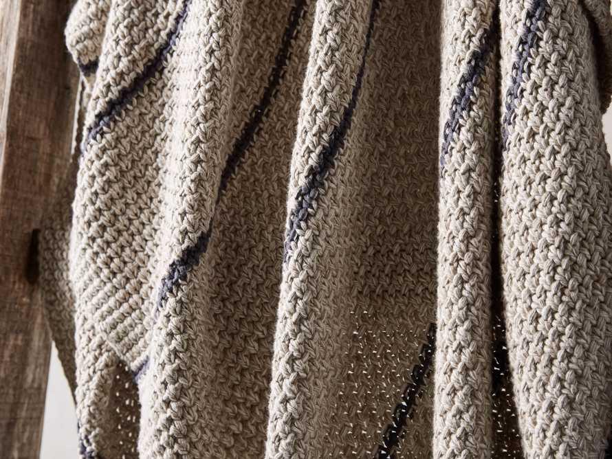 Cotton Knit Baisley Stripe Throw, slide 3 of 6