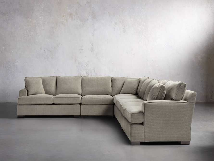 """Dune 162"""" Upholstered Five Piece Sectional"""