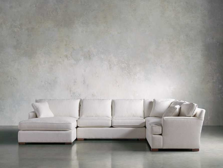 Dune Three Piece Large Chaise Sectional in Cream, slide 1 of 10
