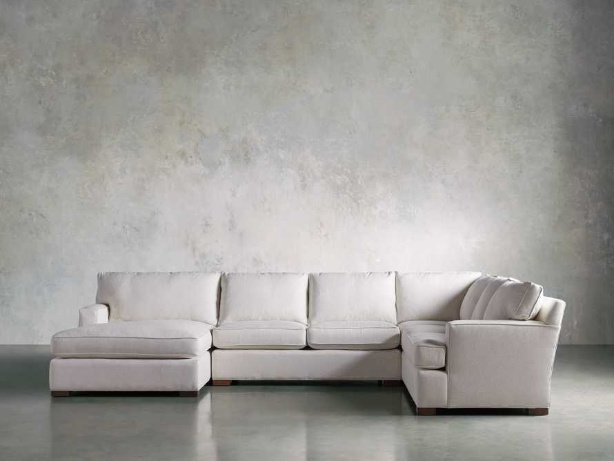 Dune Three Piece Large Chaise Sectional in Cream, slide 2 of 10