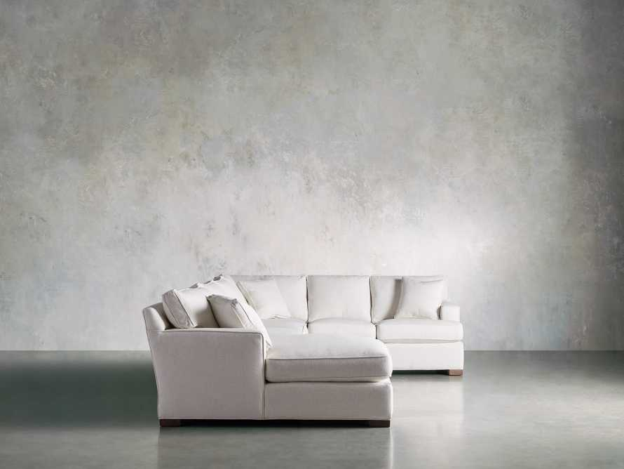 Dune Three Piece Large Chaise Sectional in Cream, slide 4 of 10