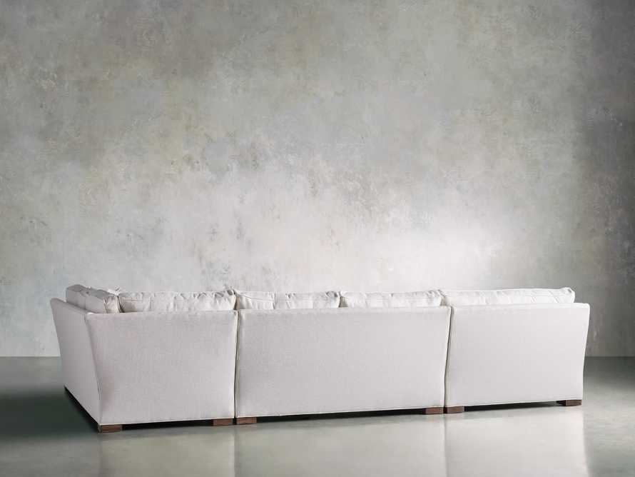 Dune Three Piece Large Chaise Sectional in Cream, slide 5 of 10