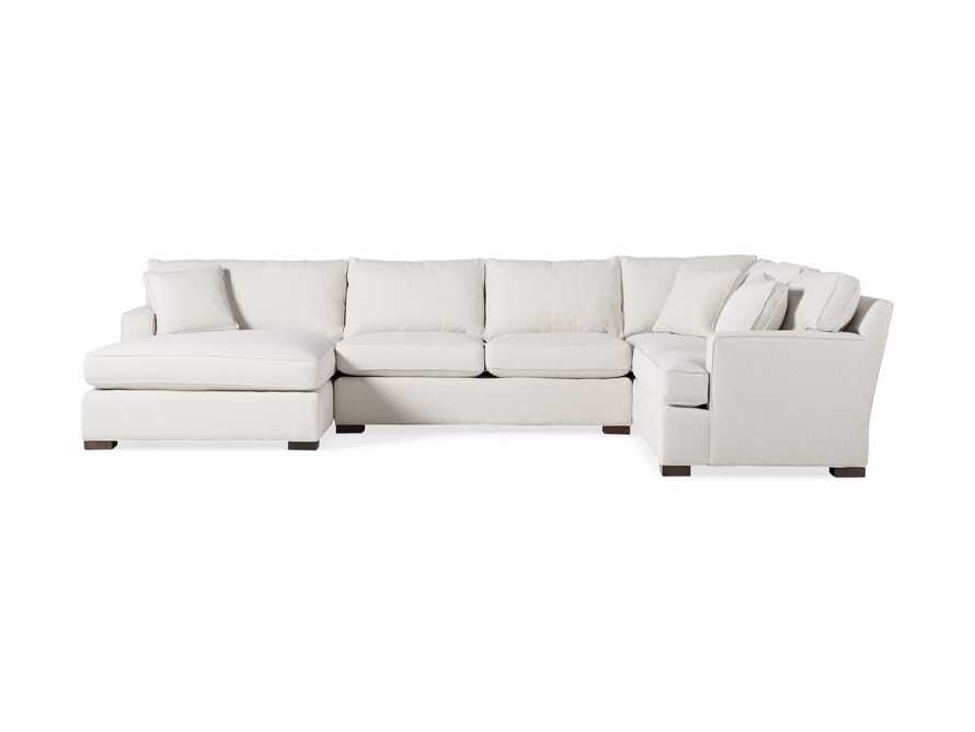 Dune Three Piece Large Chaise Sectional in Cream, slide 8 of 10