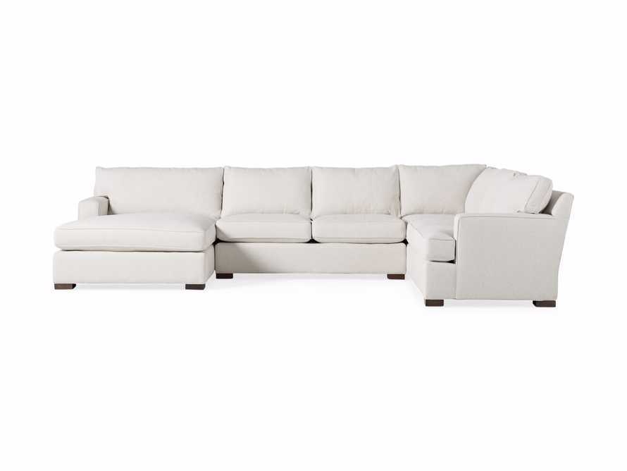 Dune Three Piece Large Chaise Sectional in Cream, slide 9 of 10
