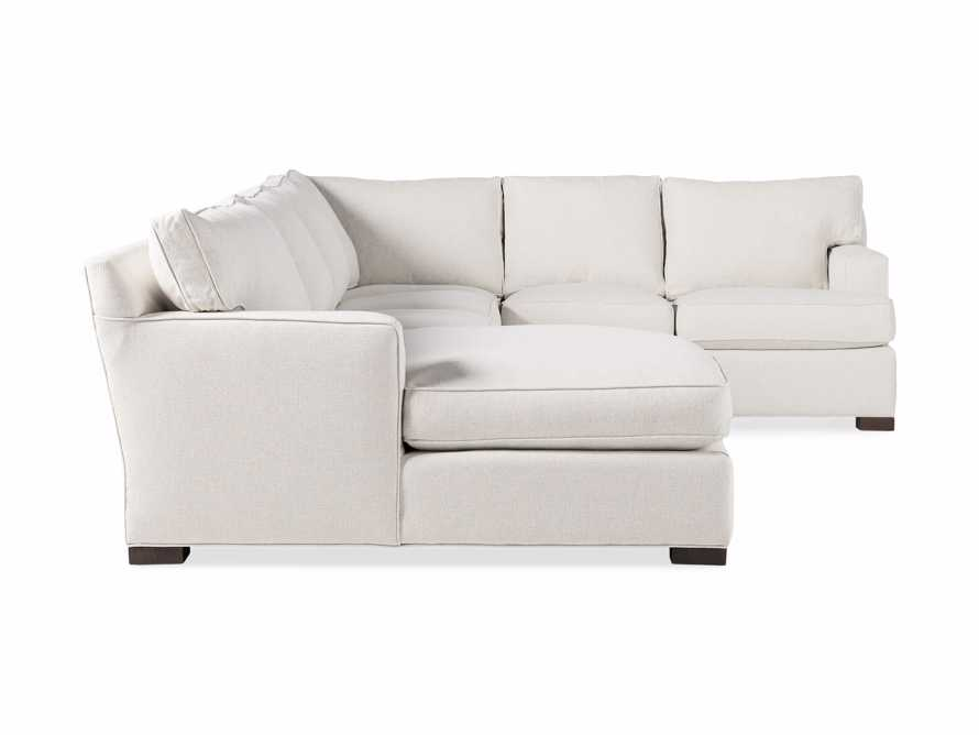 Dune Three Piece Large Chaise Sectional in Cream, slide 10 of 10