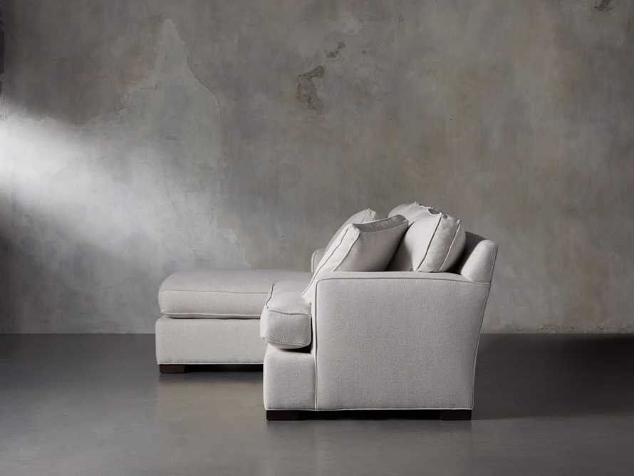 """Dune 95"""" Upholstered Left Arm Two Piece Sectional in Tune Cream, slide 4 of 11"""