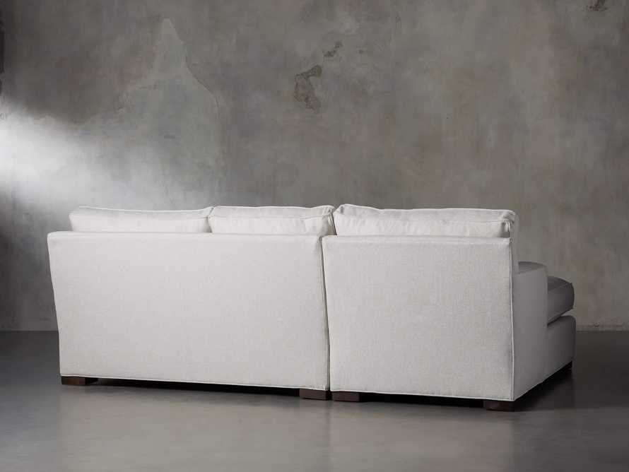 """Dune 95"""" Upholstered Left Arm Two Piece Sectional in Tune Cream, slide 5 of 11"""