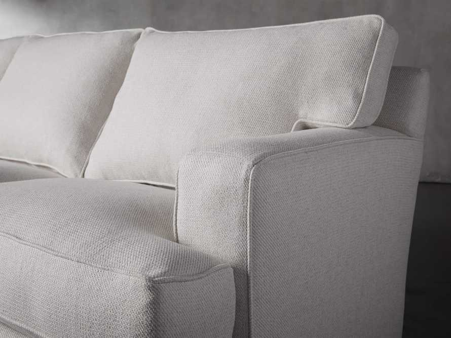 """Dune 95"""" Upholstered Left Arm Two Piece Sectional in Tune Cream, slide 6 of 11"""