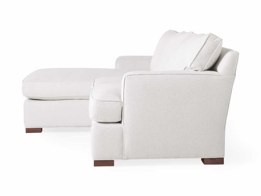 """Dune 95"""" Upholstered Left Arm Two Piece Sectional in Tune Cream, slide 10 of 11"""