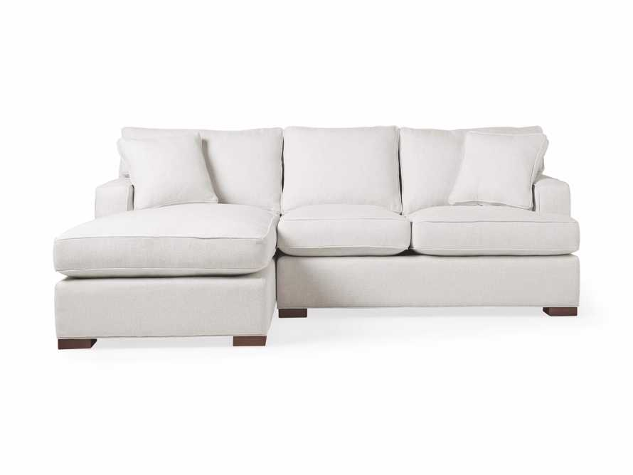 "Dune 95"" Upholstered Left Arm Two Piece Sectional in Tune Cream"
