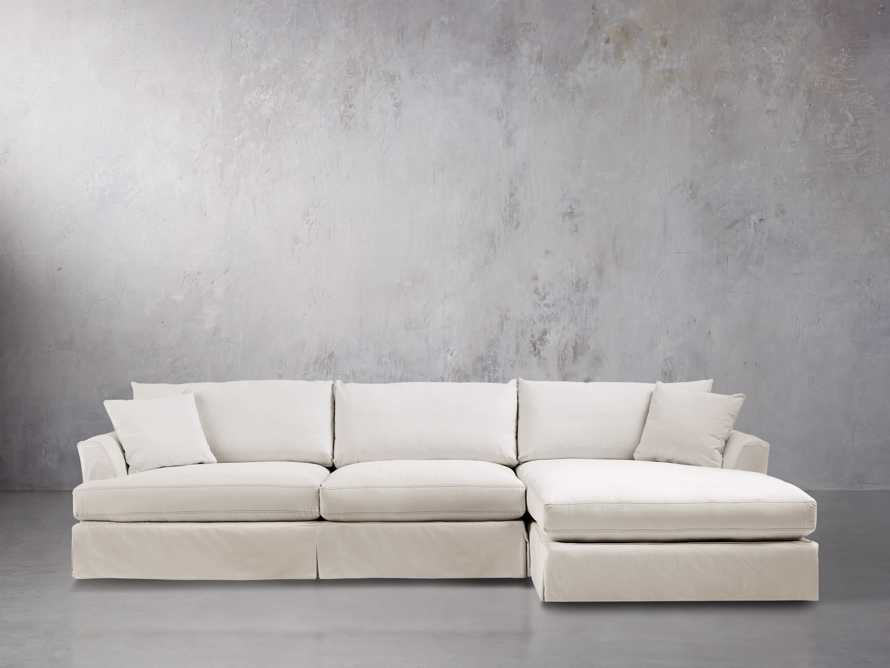 "Emory 134"" Two Piece Slipcovered Sectional, slide 2 of 10"