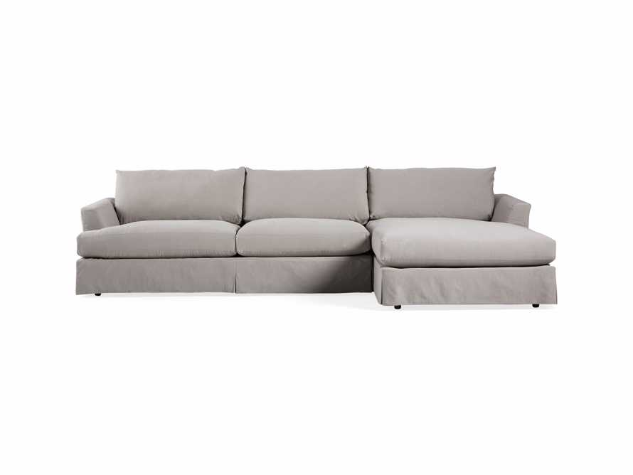 "Emory 134"" Two Piece Slipcovered Sectional"