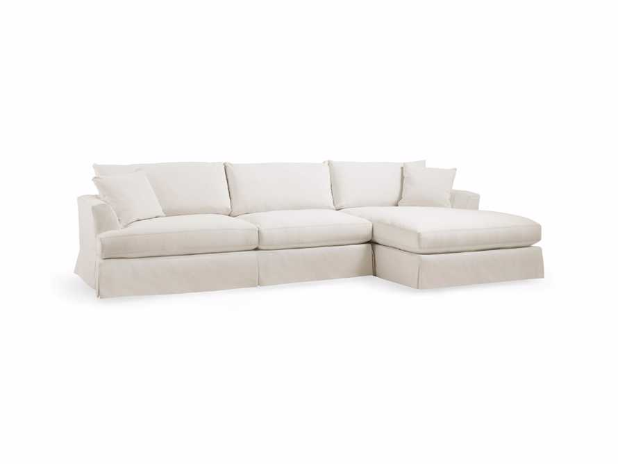 "Emory 134"" Two Piece Slipcovered Sectional, slide 3 of 8"