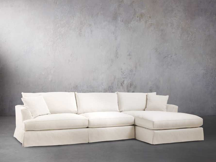 "Emory 134"" Two Piece Slipcovered Sectional, slide 3 of 10"