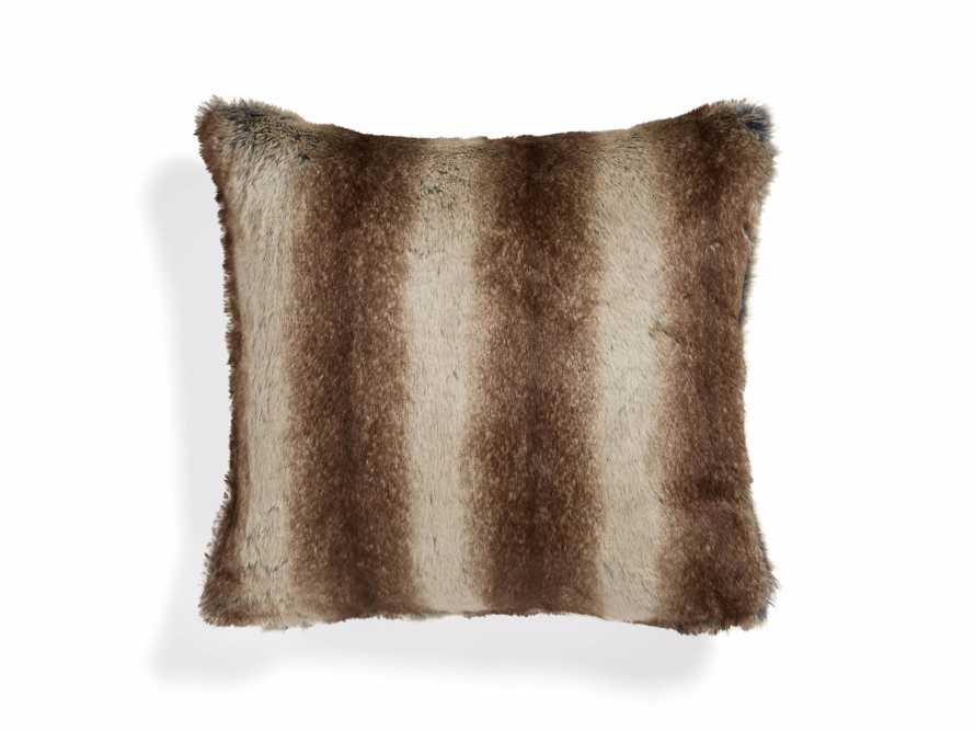 Coyote Faux Fur Brown Pillow