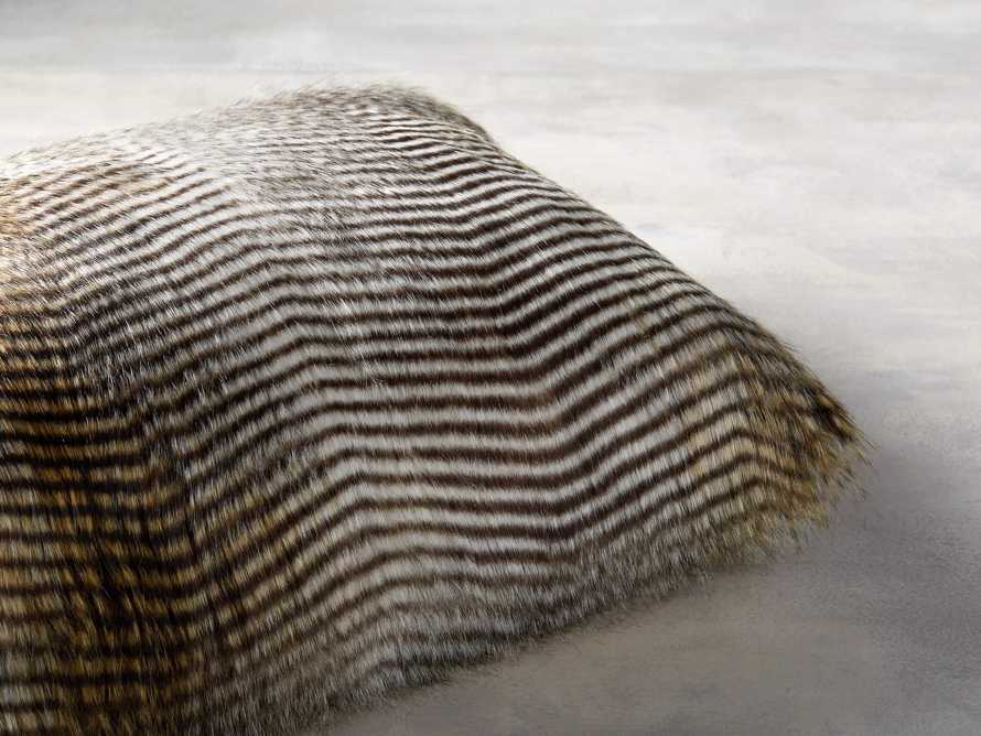FAUX FUR LUMBAR PILLOW COVER IN NATURAL FEATHER, slide 3 of 3