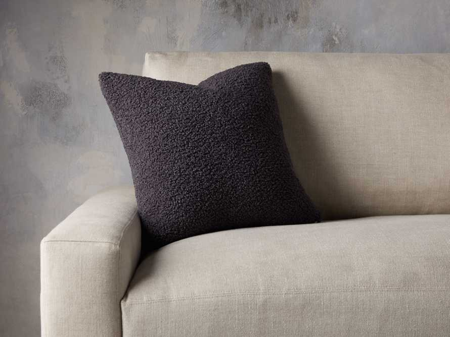 Faux Sherpa Pillow Cover in Charcoal, slide 3 of 4