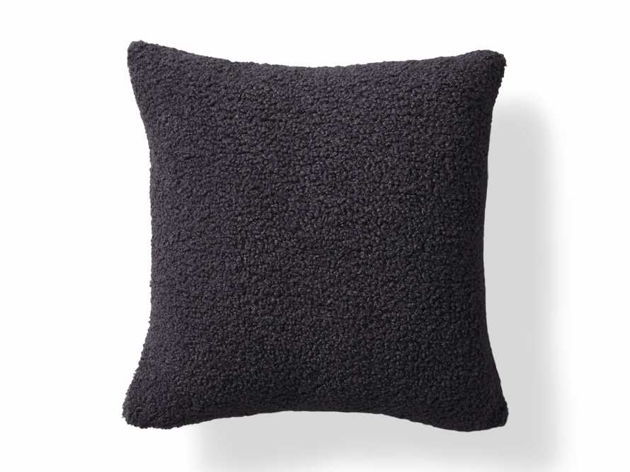 Faux Sherpa Pillow Cover in Charcoal, slide 4 of 4
