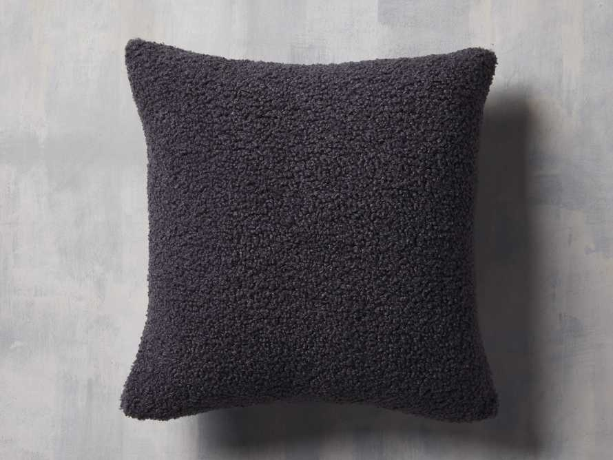 Faux Sherpa Pillow Cover in Charcoal, slide 1 of 4