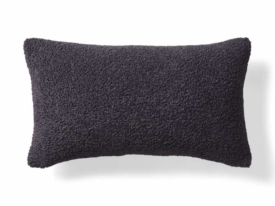 Faux Sherpa Lumbar Pillow Cover in Charcoal, slide 4 of 4