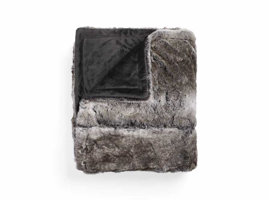 Grey Wolf Faux Fur Bed Blanket