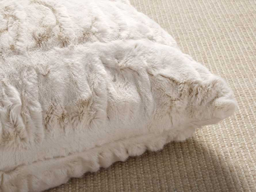 Faux Fur Luxe Ivory Euro Pillow