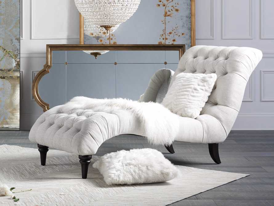 """Luxe 19"""" Ivory Faux Fur Pillow, slide 4 of 5"""