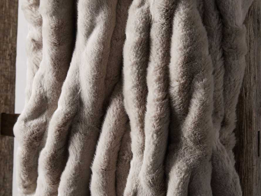 Faux Fur Luxe Oversized Throw in Grey, slide 3 of 4