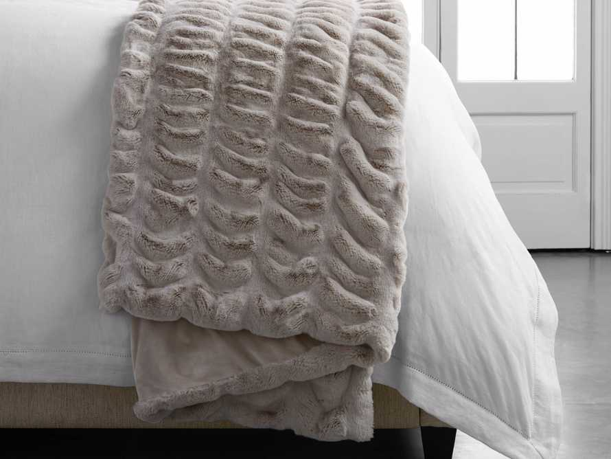 Faux Fur Luxe Grey Pleated Throw, slide 5 of 7