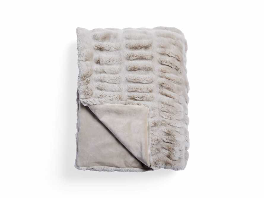 Faux Fur Luxe Grey Pleated Throw, slide 6 of 7
