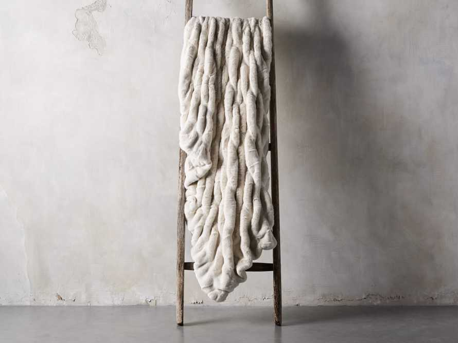 Faux Fur Luxe Oversized Throw in Ivory, slide 2 of 8