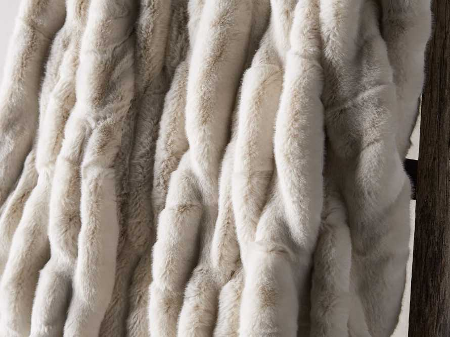 Faux Fur Luxe Oversized Throw in Ivory, slide 3 of 8