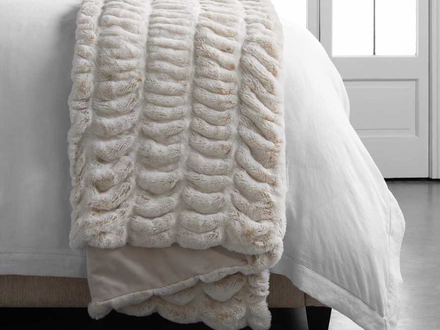 Faux Fur Luxe Oversized Throw in Ivory, slide 5 of 8