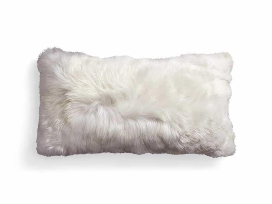 "Alpaca 22"" Lumbar Pillow in Ivory, slide 3 of 5"