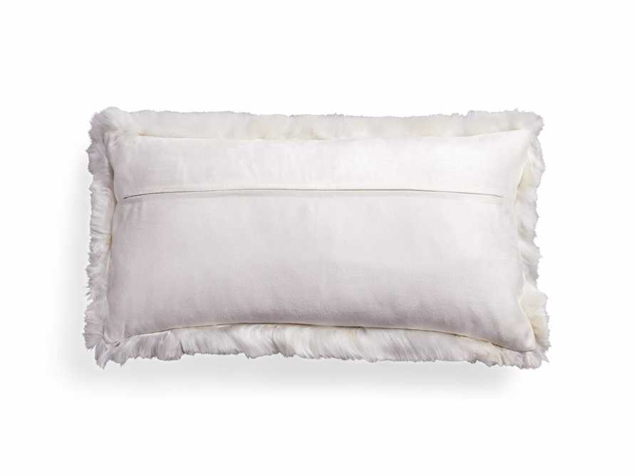 "Alpaca 22"" Lumbar Pillow in Ivory, slide 4 of 5"