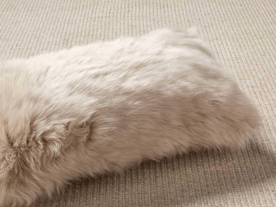 Sheepskin Lumbar Pillow in Cream