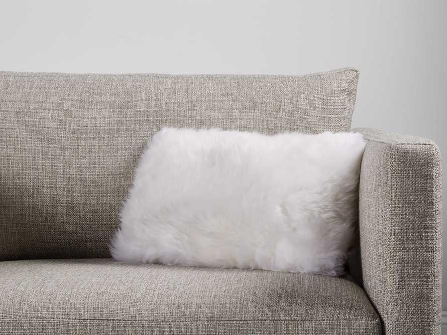 Sheepskin Lumbar Pillow in White
