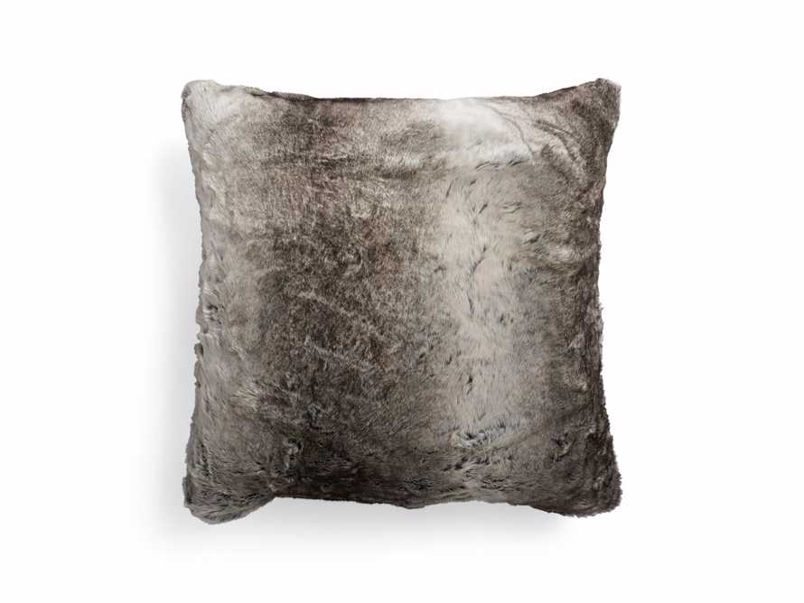 Grey Wolf Faux Fur Euro Pillow, slide 3 of 5