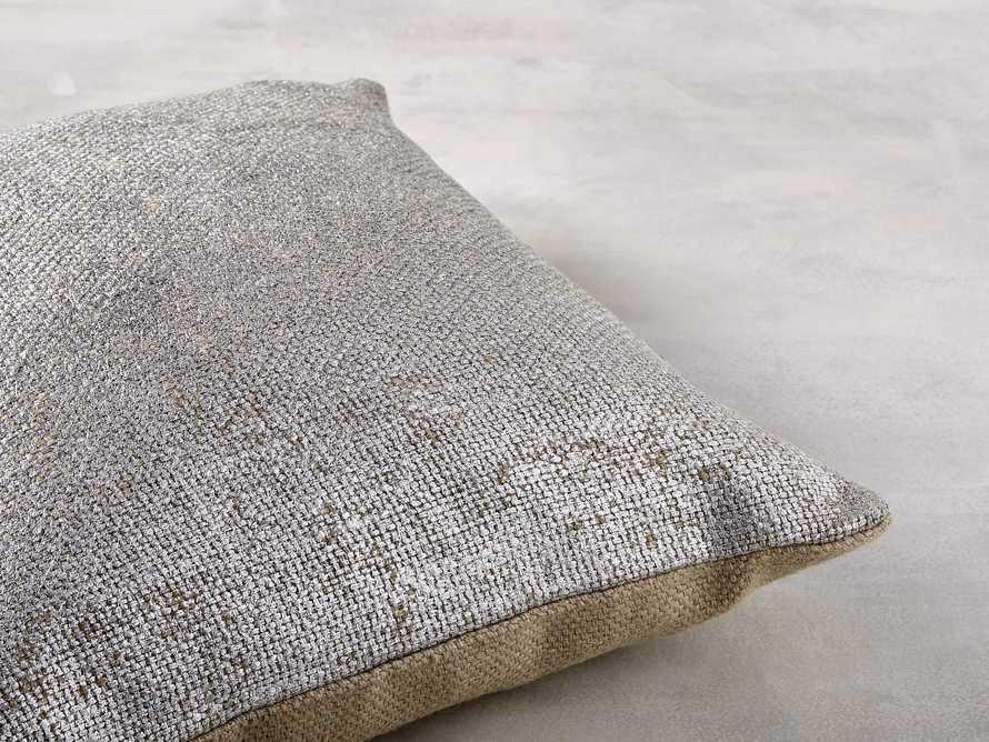 Glamour Square Silver Foil Pillow