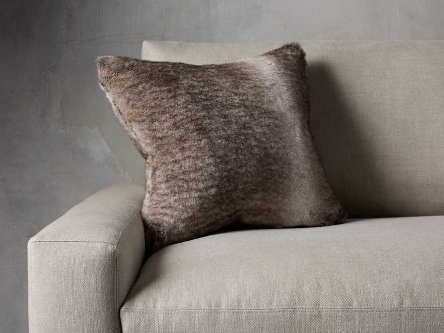 FAUX FUR SQUARE PILLOW COVER IN GREY WOLF, slide 3 of 3