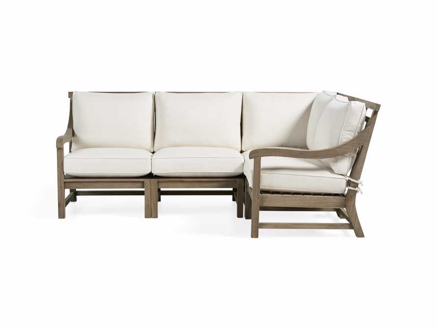 Hamptons Outdoor 4 Piece Weathered Fawn Sectional, slide 2 of 5